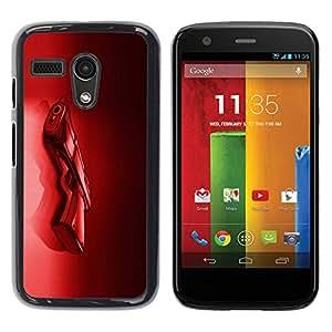 Paccase / SLIM PC / Aliminium Casa Carcasa Funda Case Cover para - Red Shoot Crime Black Passion - Motorola Moto G 1 1ST Gen I X1032