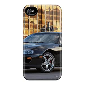 New Style Doompson Hard Case Cover For Iphone 4/4s- Black 1994 Toyota Supra