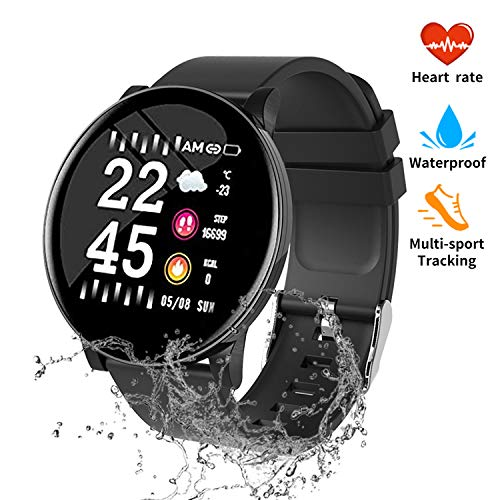 nicegh Fitness Tracker, Activity Tracker with Blood Press Heart Rate Monitor, 1.3 Color Screen IP67 Waterproof Smartwatch,Sleep Monitor Calorie Counter, Pedometer for Men Women and Kids