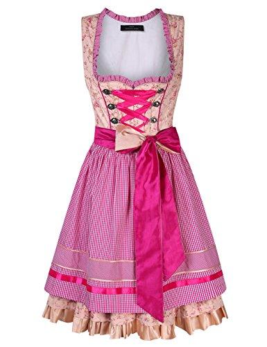 Manches Champagne Une pour Halloween Fete Bire Carnaval Robe Pink de Fminine Robe Set de Costume la No Robe pour Oktoberfest l Bavarois D'Octobre Dirndl Courtes lgante Festival Costume Oktoberfest qOqUwIxpR