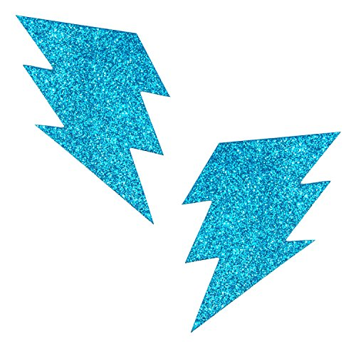 Neva Nude Bowie Blue Glitter Storm Surge Nipztix Pasties Nipple Covers (Burlesque Clothing Men)