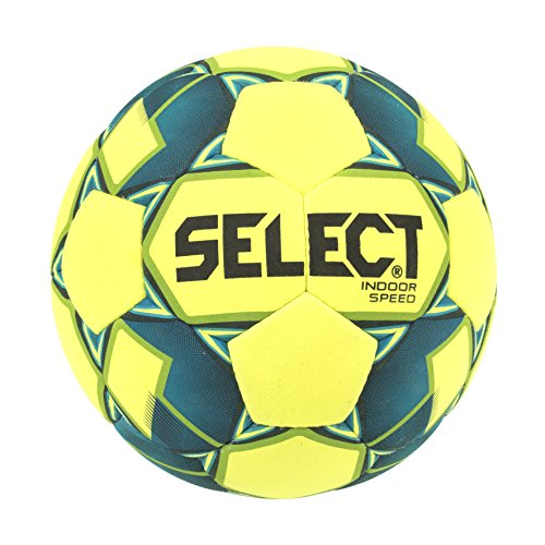 SELECT Indoor Speed Soccer Ball, Yellow/Green, Size 5