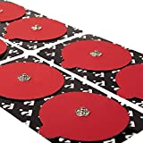 POWERDOT EMS Stimulator Replacement Pads - Red - Self Adhesive Electrode Pads - 4 Round Pads & 2 Rectangle Pads - Phone Controlled EMS for Targeted Muscle Training - Build Strength and Endurance