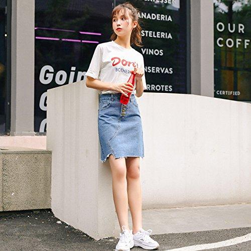 Blue Rip Denim Jupe Femmes Mode Jupe Jupe Port Distressed Mini Casual High Rip Vintage YongBe w46X5Pwq