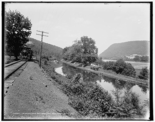 (Vintography 8 x 10 Ready to Frame Pro Photo of The Susquehanna River and Canal Near Shickshinny Pa 1896 Detriot Publishing 68a)