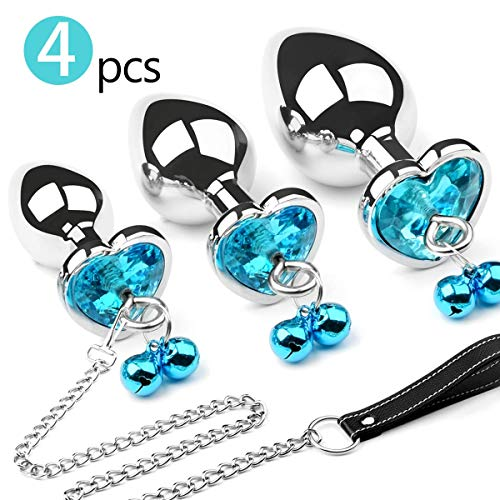 Metal Butt Plug Bell Anal Sex Toy Traction Chain BDSM Anal Plugs Jewelry Design Training Set Sex Toys Unisex…
