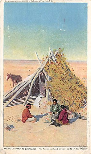 Navajo Indians at Breakfast Indian - Breakfast Postcard