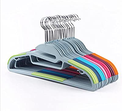 WWZY Hangers plastic Wet and dry Non slip Durable Multi Purpose Magic Hooks Closet Space Saving Coat Clothes Hanger (pack of 10)