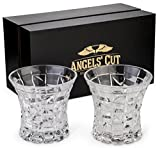 Regal Whiskey Glasses Set of 2 by Angels' Cut. Two, Whisky, Bourbon, Scotch Rocks Glasses. Dishwasher Safe, Lead-Free, Gift Set Glassware. Elegant Bar Glass Tumblers for Alcohol.