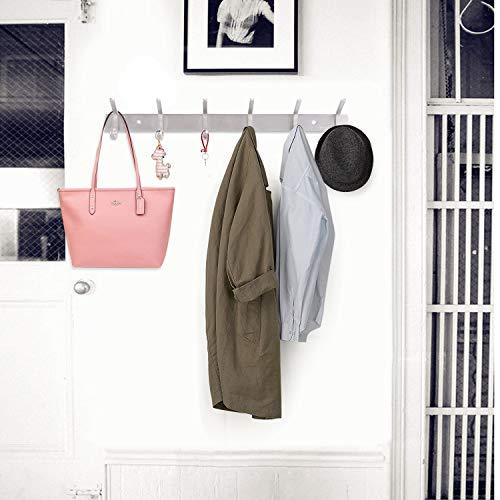 Hook Rack, Bedee Wall Mount Stainless Steel 6/12 Hooks Heavy Duty Door Hanger Rack Hat Holder for Coat Robe Clothes Towel