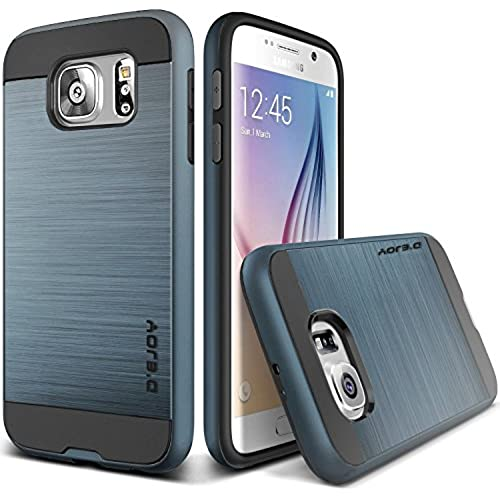 D'eJoy Slim Brushed Metal Shiny Case for Samsung Galaxy S7 - Navy Sales