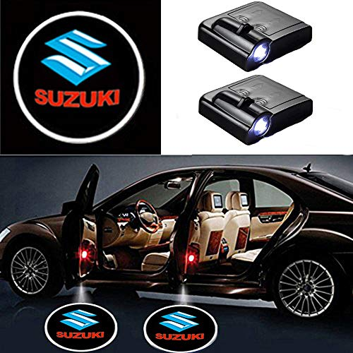 MIVISO 2 Pieces Car Logo Projector Ghost Shadow Emblems Wireless Car Door Lights Led Laser Lamp Welcome Courltesy Light