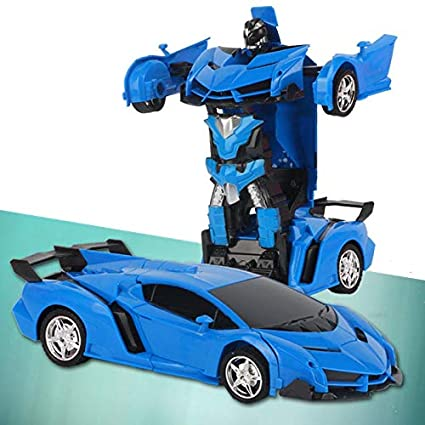 lzndeal Jouet de Transformation 2 en 1 de Jouet Voiture et Robot Transformation de Voiture Jouet Transformation Car Toy Jouet Mod/èle De Voiture /Électrique avec T/él/écommande