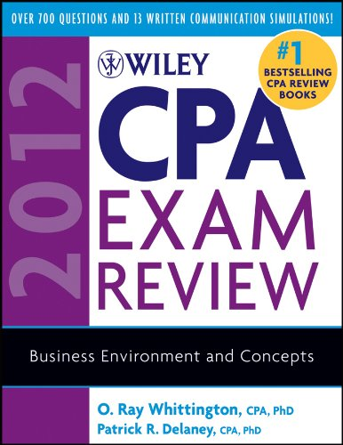 Download Wiley CPA Exam Review 2012, Business Environment and Concepts (Wiley CPA Examination Review: Business Environment & Concepts) Pdf
