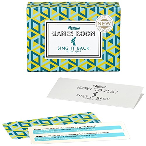 Lyrics Game - Ridley's Games Sing It Back Second Edition Quiz Card Guessing Game for Kids and Adults