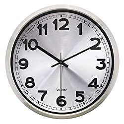 HIPPIH 12 Non-ticking Silent Wall Clock- Metal Frame Glass Cover