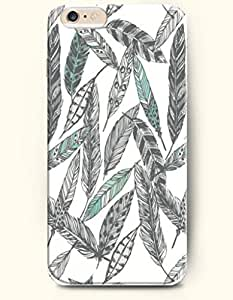 SevenArc Phone Accessory New Apple iPhone 6 Plus case 5.5' -- Black and Turquoise Feathers