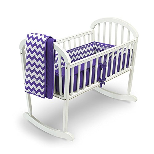 Babykidsbargains Chevron Cradle Bedding, Plum, 18'' x 36'' by babykidsbargains