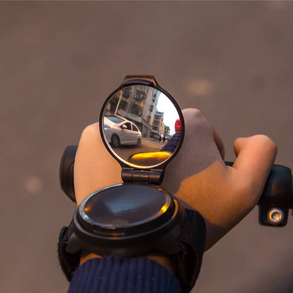 Accessorio per Ciclismo Specchietto retrovisore per Bicicletta AimdonR con Fascia da Polso Girevole a 360/°