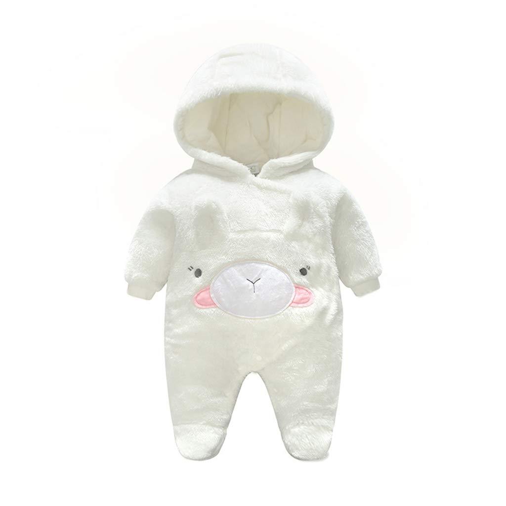 Bebé Mamelucos con Capucha Franela Ropa de Invierno Peleles con Pies Monos de Manga Larga, 0-3 Meses: Amazon.es: Bebé