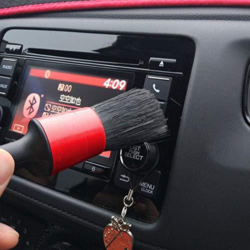 Car Detailing Set di pennelli per Auto Moto Automotive Cleaning Wheels Cruscotto Interni Esterni in Pelle FOONEE Auto Detailing Brush Set di 5