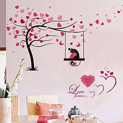 Amazon Com Laona Romantic Love Tree Self Adhesive Wall Stickers
