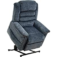 CATNAPPER 4825180043 Soother Galixy Power Lift Full Lay Out Chaise Recliner with Heater and Massage, Blue