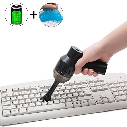 Mini Vacuum Cleaner - Cordless Keyboard Cleaner with Cleansing Gel, Powerful Rechargeable with Li-Battery, Good for Cleaning Dust, Hairs, Crumbs, Scraps for Laptop, Keyboard, Makeup Bag, Car, Pet Hous