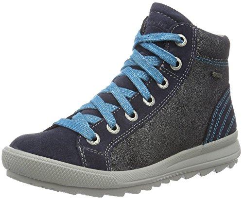 Superfit LINA 708493, Mädchen Hohe Sneakers, Blau (OCEAN KOMBI 81), 34 EU