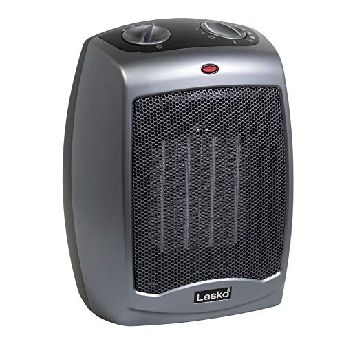 Lasko 754201 Small Portable 1500W Electric Ceramic Space Heater with Tip-Over Safety Switch, Overheat Protection…