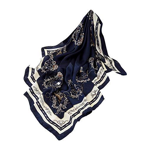 D sciarpe stampato moda Aimee7 eleganti leggeri donna scialli seta sera quadrate da Sciarpa 6xqXI7
