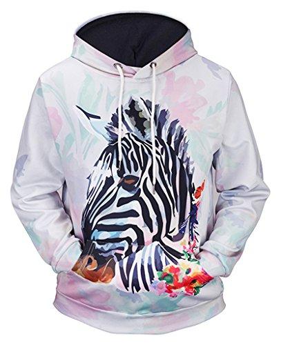 Zebra Print Hoodie - 7