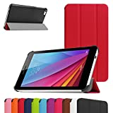 Huawei MediaPad T1 7.0 Slim Shell Case,Mama Mouth Ultra Slim Lightweight 3-folding PU Leather Standing Cover For 7