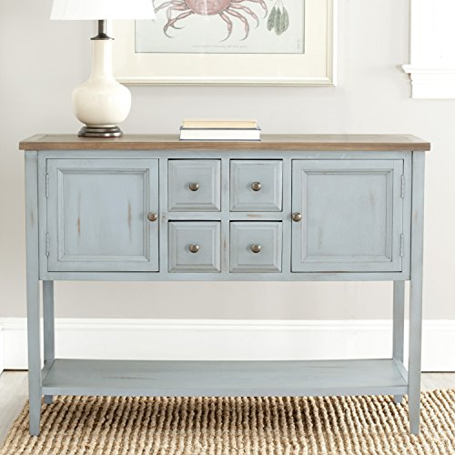 Buffet Table Hutch - Safavieh American Homes Collection Charlotte Distressed Light Blue Sideboard