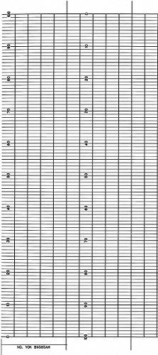 Strip Chart,Fanfold,Range 0 to 100,99 Ft