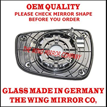 Heated Silver Wing Door Mirror Glass Including Base Plate Rh