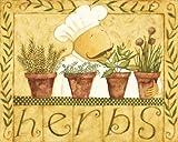 Herbs Art Poster PRINT Dan Dipaolo 10x8