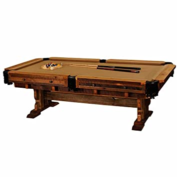 Amazoncom Barnwood Pool Table Real High Quality Wood Western Lodge - Western pool table