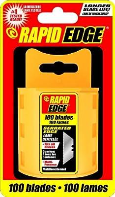 Rapid Tools All-Purpose Rapid Edge Serrated Utility Knife Blades (100 blades)