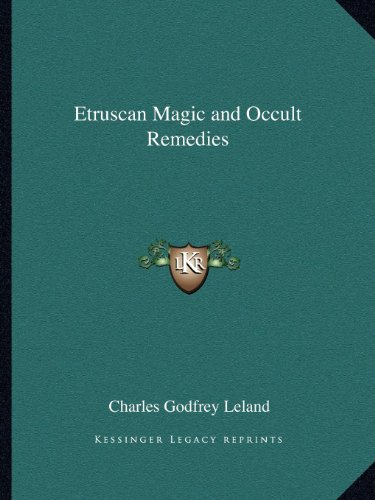 Etruscan Collection - Etruscan Magic and Occult Remedies