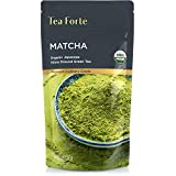 Tea Forte USDA Organic Matcha Green Tea Powder, Culinary Grade Japanese Matcha for Cooking, Baking or Latte, 4oz (113g) Resealable Pouch