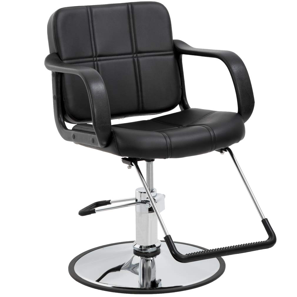 Barber Chair Salon Chair Styling Chair Heavy Duty Beauty Salon Barber Swivel Chairs Hydraulic Pump Profession Shampoo Hair Cutting Chairs Salon Equipment by BestSalon