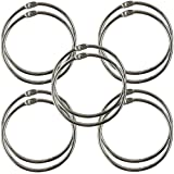 Clipco Book Rings Extra Large 3-Inch Nickel Plated (10-Pack)