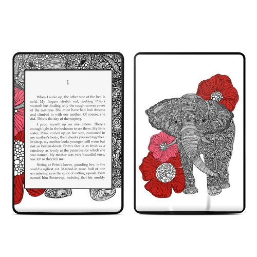 The Elephant Design Protective Decal Skin Sticker for Amazon Kindle Paperwhite eBook Reader (2-point Multi-touch)