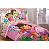 Dora Explorer Run Skip Jump Twin-Full Bedding Comforter