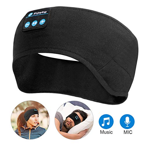 Bluetooth Sleep Headphones Sleeping Eye Mask Headband,Wu-Minglu Music Sweatband Wireless Headband Headphones
