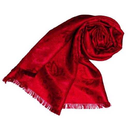 Womens Italian Silk - LORENZO CANA Womens Italian Silk Scarf Shawl Damask 22x75