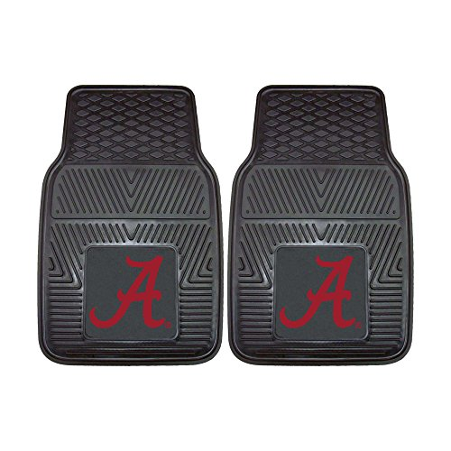 FANMATS NCAA University of Alabama Crimson Tide Vinyl Heavy Duty Car Mat ( set of two )