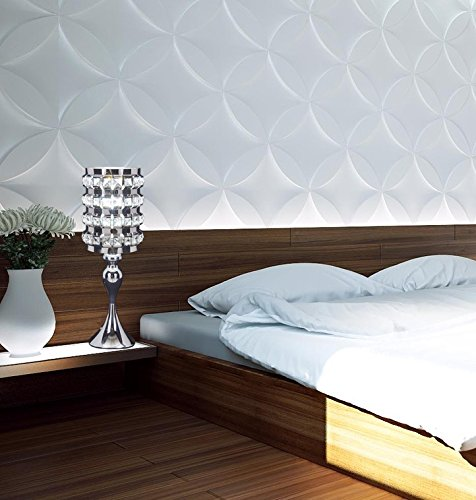 SwanHouse Crystal Chandelier Silver Modern Classic Table Lamp BSH-KOQ-W7xH19 by SwanHouse (Image #9)