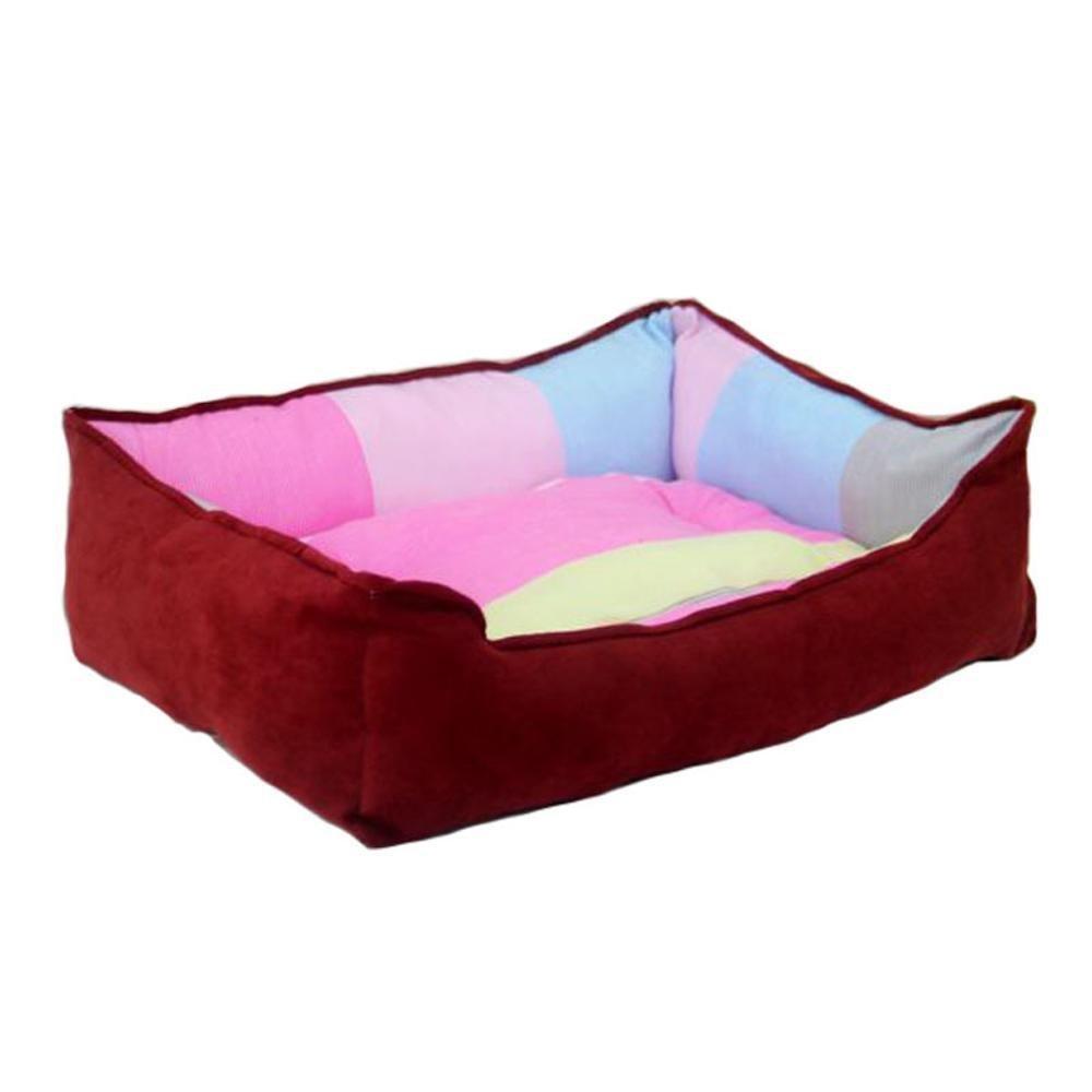 C 55 *45cm C 55 *45cm Desti Flakes Pet Bolster Dog Bed Comfort Comfort Kennel Pet nest (Colore:C, Dimensione:* 55 * 45cm)